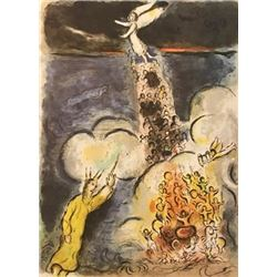 Cloudy Day - Marc Chagall Lithograph