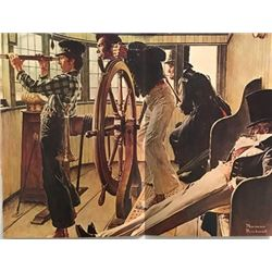Look Out - Norman Rockwell Lithograph