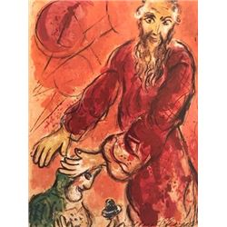 The Story Of Exodus- Marc Chagall Lithograph