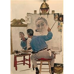 Self Portrait - Norman Rockwell Lithograph