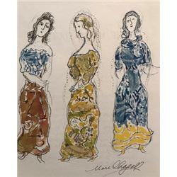 Marc Chagall Lithograph - Firebird: The Ballet Dancer