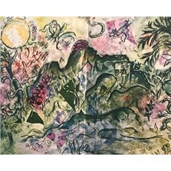 Marc Chagall Lithograph - A Blue Cow