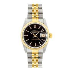 Rolex Datejust 18k yellow gold black face Men