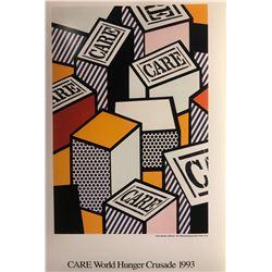 """Roy Lichtenstein""""Care World Hunger Crusade"""""""