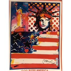 """Peter Max""""God Bless America""""Hand Signed"""