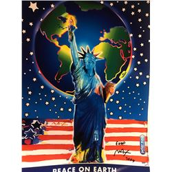 """Peter Max""""Peace on Earth""""Hand Signed"""