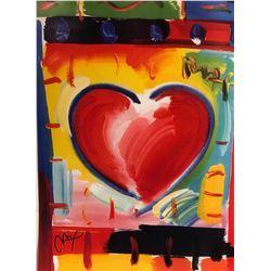 """Peter Max""""Heart""""Hand Signed"""