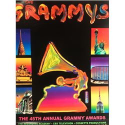 """Peter Max""""The Grammys""""Hand Signed"""
