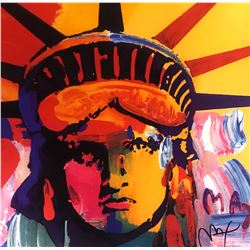 """Peter Max""""Liberty Head""""Hand Signed"""