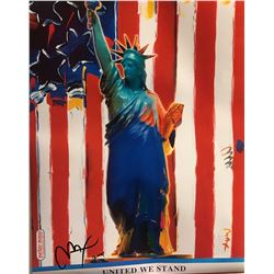 """Peter Max""""United We Stand""""Hand Signed"""