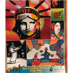 """Peter Max""""The Creative World Of Peter Max""""Hand Signed"""