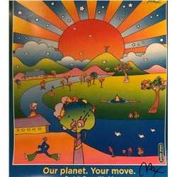 """Peter Max""""Our Planet""""Hand Signed"""