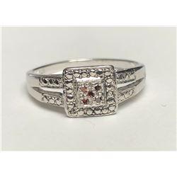 Elegant White Gold Ruby Ring(cts)