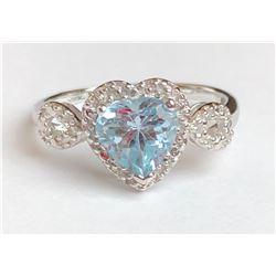 Dazzling Aquamarine Diamond Ring(cts)