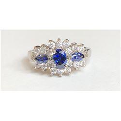 Beautiful Saphire Diamond Ring(cts)