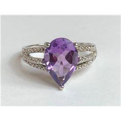 Classy Tanzanite Diamond Ring (cts)