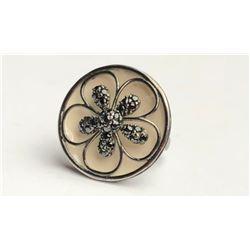 Dazzling Black Diamond Flower Ring(cts)