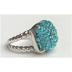 Classy Saphire Silver Ring(cts)