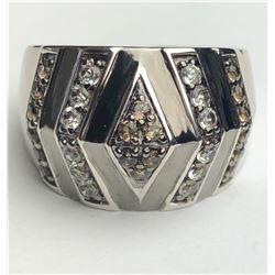 Dazzling 2 Tone Topaz Diamond Ring(cts)