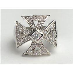 Stunning Diamond Cross Ring(cts)