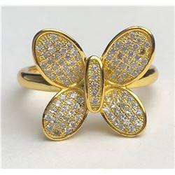 Elegant 18k Diamond Butterfly Ring(cts)