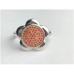 Marvelous Hessonite Diamond ring (cts)