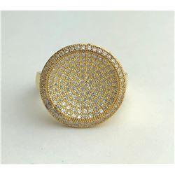 Stunning 18k Circle Diamond Ring(cts)