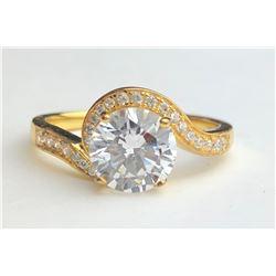 Wonderful Designed 18k Diamond Ring(cts)