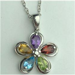 Beautiful Multi Color Diamond Necklas(cts)