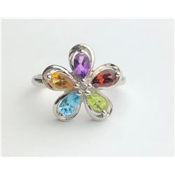 Classy Multi Color Diamond Ring(cts)