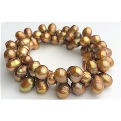 Wonderful Gold Pearl Bracelet