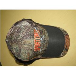 SPORTSCHIEF Hats - New Qty 2 Black/Brown Camo, Qty 5 Camo w/red/yellow/white stitching and 1 HOYT Ha
