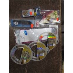 INVISILINE Spinner 30 lb. Qty 3, Wooden plug, swivels, Cavitron Buzz baits