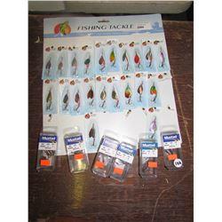 FISH Hooks Qty 21, Mustad Weedless hooks - Qty 6 pkgs