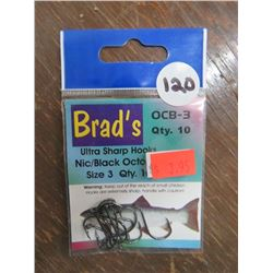 BRAD's Ultra Sharp Hooks, Various Sizes qty 61