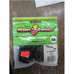 LURES, various kinds, Mister Twister, Exsile, etc. Qty 25