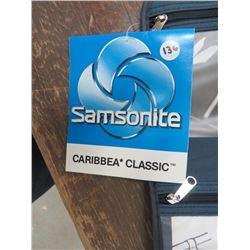 SAMSONITE Pak It Caddy, Slate blue, snap close, 5 zippered pouches