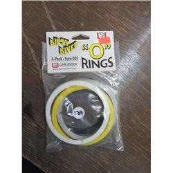 DIPSY Diver O rings, size 001s qty 10, 4 per pkg