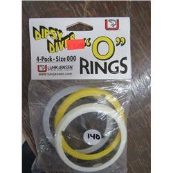 DIPSY Diver O rings, size 000s qty 7, 4 per pkg