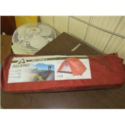 """ASCEND Red Lodge 4 man tent, 8'2"""" X 6' 8"""" , Bass Pro return as is"""