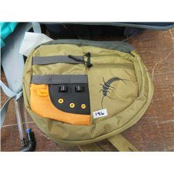 ASCEND teal back pack, White River olive green pack, Bass Pro navy thermal bag, returned