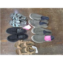 BOX of various men's and ladies shoes, men's size 10 & 11, ladies size 6, 8 & 9, returned