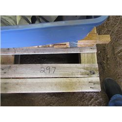 PALLET of Shovels, DVDs, Xbox games, mixer, coffee maker, table bannister pickets, dog kennel, stere