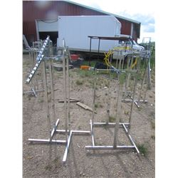 """DISPLAY Racks  for clothes qty 2  54"""" high"""