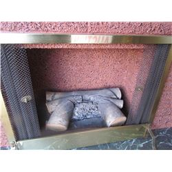 """ELECTRIC Fireplace  42"""" h, top 131/2 deep, w/mantle 20 1/2"""" deep x 5 ft. L"""