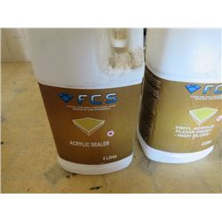 4 FCS 4 liter jugs vinyl acrylic