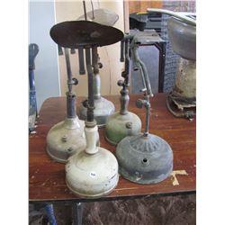 5 COLEMAN lamps