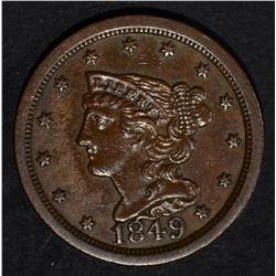 1849 HALF CENT, CH BU
