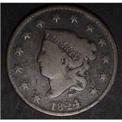 1824/2 LARGE CENT, VG