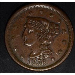 1856 LARGE CENT, XF